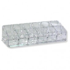 Clear Acrylic Lipstick Organizer (12 Compartments)