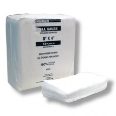 "Cotton All Gauze 12-Ply 8""x4"" (200/Bag)"