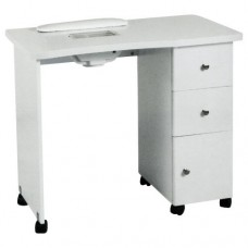 White Manicure Table with Dust Collector