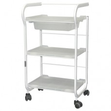 Three Shelf Plastic Trolley (1017)