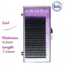 Premium J-Curl Mink Eyelashes Mixed 0.2x7-15mm (16 Rows)