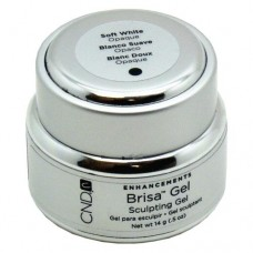 CND Brisa Soft White Opaque Sculpting Gel 0.5oz