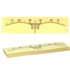 Disposable Eyebrow Measurement Sticker Ruler (50/Pack)