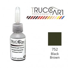 Truccart Tattoo Pigment For Eyebrow (Black Brown)