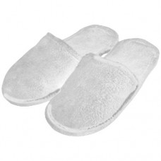 Slippers Velour White