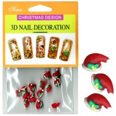 3D Nail Decoration Christmas Hat