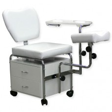 White Pedicure Chair with Foot Rest (TS1608)
