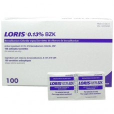 Benzalkonium Chloride Antiseptic Wipes (100/Box)