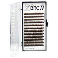 Assorted Dark Brown Eyebrow Extensions 0.1x5-8mm (12 Rows)