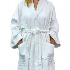Bath Robe (White Velour)