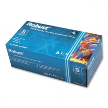 Robust Nitrile Disposable Gloves Blue (Powder Free) Small (100/Box)