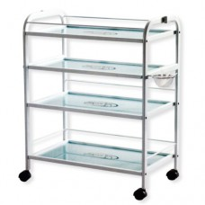 Large Trolley with Four Glass Shelves (1015A SF)