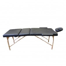 3-Part Portable Bed Wooden Black