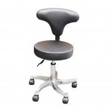 Black Gas-Lift Stool w Adjustable Back Support