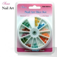 Nail Art Kit Slice #2 Assorted Shapes (120/Pack)