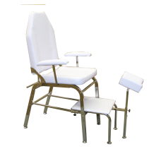 Pedicure Chair with adjustable back White