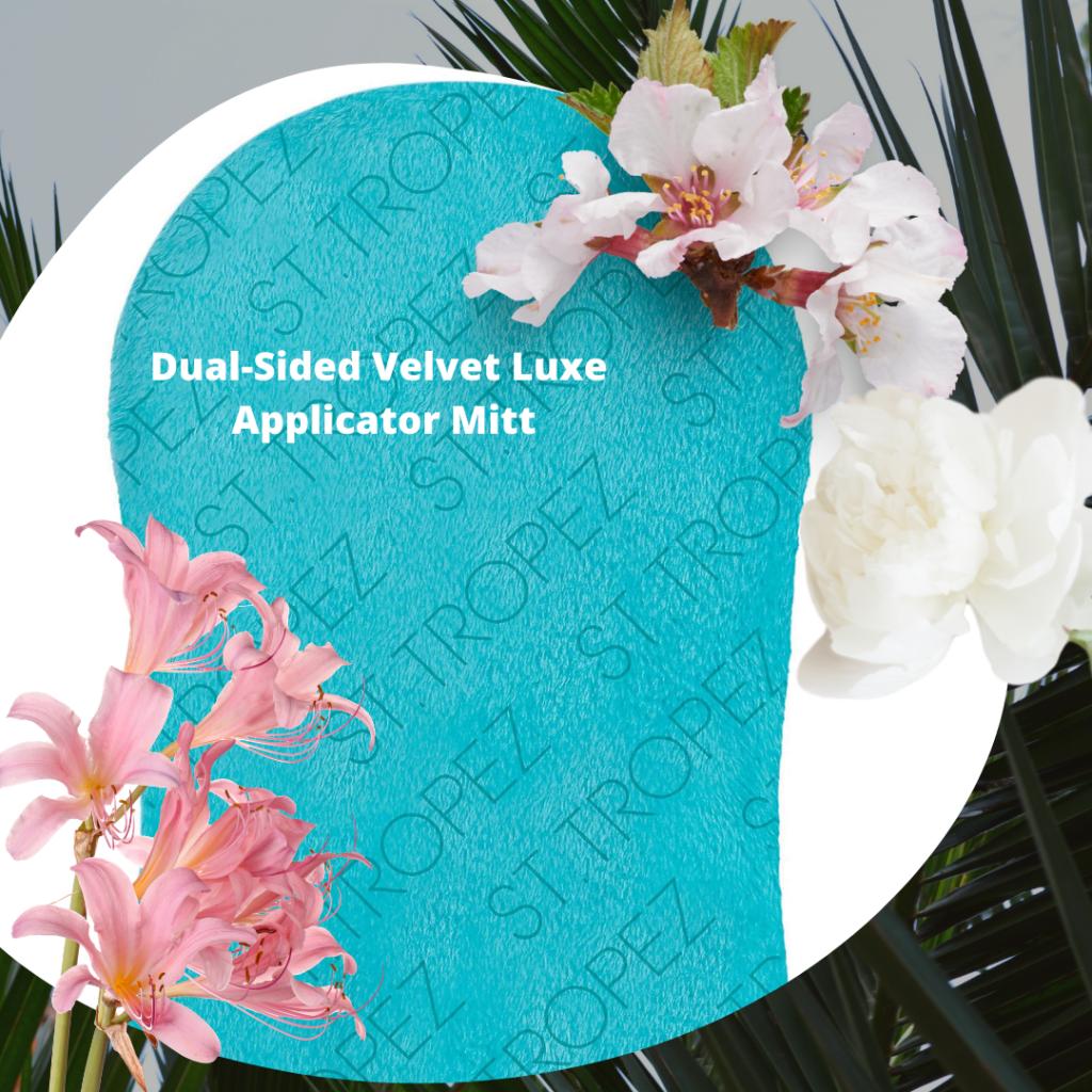 Dual-Sided Velvet Luxe Applicator Mitt