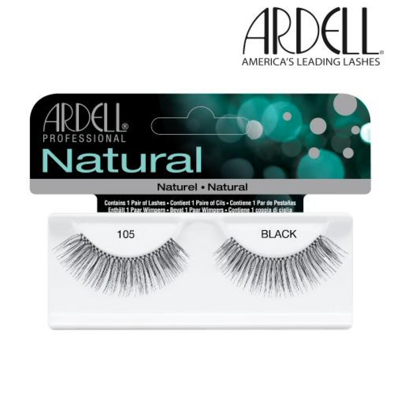 6681145040b Ardell Natural Lashes #105 (Black) - Natali Products Inc