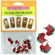 3D Nail Decoration Christmas Stocking