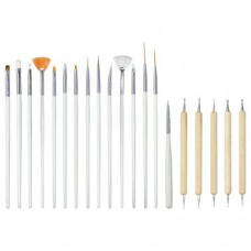 Nail Art Brush Roll Kit (20 Pieces)