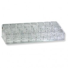 Clear Acrylic Lipstick Organizer (24 Compartments)