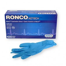 Ronco Nitech Gloves Blue (Powder Free) Large (100/Box)