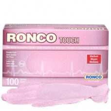 Ronco Nitrile Disposable Gloves Pink (Powder Free) Medium (100/Box)