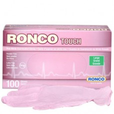 Ronco Nitrile Disposable Gloves Pink (Powder Free) Large (100/Box)