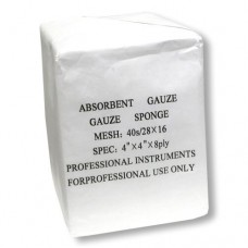 "Absorbent Cotton Gauze 8-Ply 4""x4"" (100/Pack)"