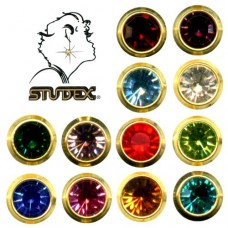 Assorted Earrings (Regular, Bezel Setting, Gold Plating) (12 Pairs/Pack)