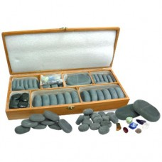 Basalt Hand Polished Stone Set (64/Pieces)