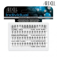 Ardell Individual Lashes Comb Pack - Black Flare Knot-Free (Assorted)