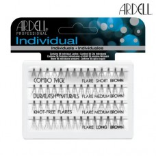 Ardell Individual Lashes Combo Pack - Brown Flare Knot-Free (Assorted)