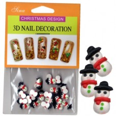 3D Nail Decoration Snowman
