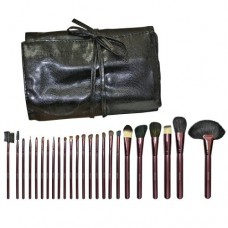 24-Piece Makeup Brush Set with Black Pouch