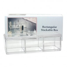 3 Compartment Box With Lid (Acrylic)