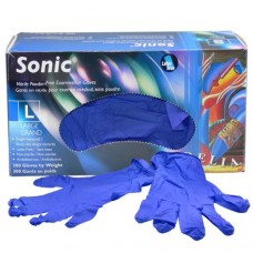 Sonic Nitrile Disposable Gloves Purple (Powder Free) Large (300/Box)