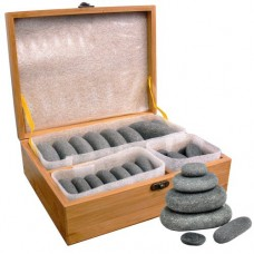 Basalt Hand Polished Stone Set (35/Pieces)