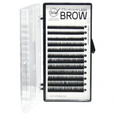 Assorted Black Eyebrow Extensions 0.1x5-8mm (12 Rows)