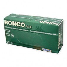 Ronco Latex-Free Synthetic Green Aloe Gloves (Powder Free) Medium (100/Box)