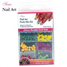 Nail Art Kit Fruity Slices #2 (144/Pack)