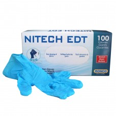 Ronco Nitech Gloves Blue (Powder Free) Medium (100/Box)