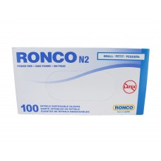 Ronco Nitrile Disposable Gloves Blue (Powder Free) Small (100/Box)