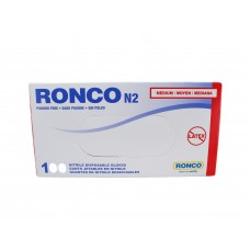 Ronco Nitrile Disposable Gloves Blue (Powder Free) Medium (100/Box)