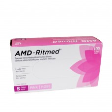 AMD Nitrile Disposable Gloves Pink (Powder Free) Small (100/Box)