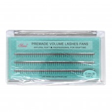3D Eyelash C-Curl Premade Natural Soft 0.07x12mm (60/Pack)