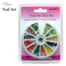 Nail Art Kit Slice #1 Fruit (120/Pack)