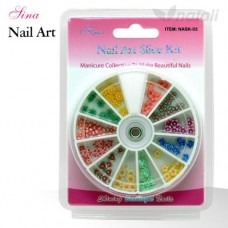 Nail Art Kit Slice #3 Flowers (120/Pack)